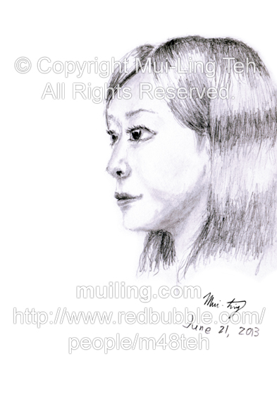 A quick portrait sketch by Mui-Ling Teh