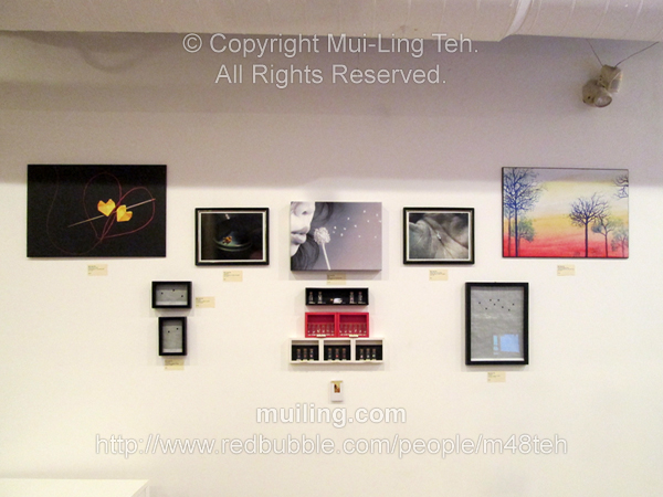 Artworks by Mui-Ling Teh during the Art Galleria Expo - March 2014